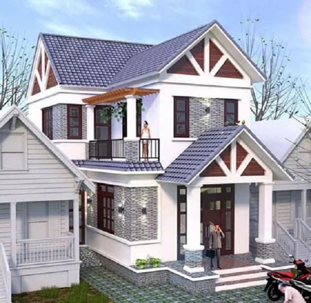 Nhà mái thái phù hợp các căn nhà mặt phố