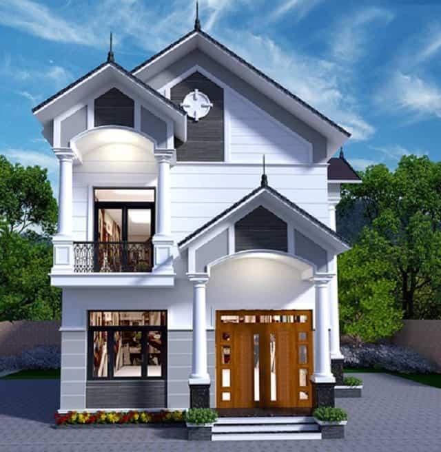Nhà 2 tầng mái thái ở diện tích đất hẹp chiều ngang