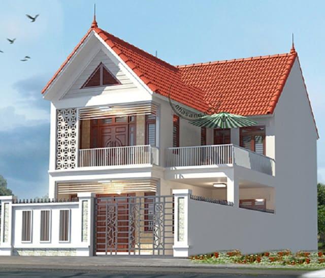 Một mẫu biệt thự mini kiểu mái thái vô cùng phong cách