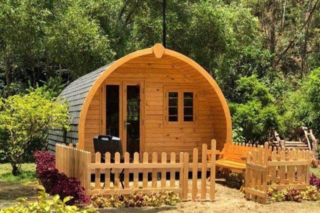 Nhà gỗ hiện nay ngày càng được tân tiến hơn về kiểu dáng