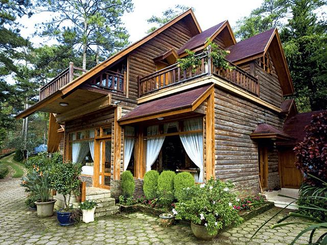 Nhà gỗ có hệ thống gầm cao
