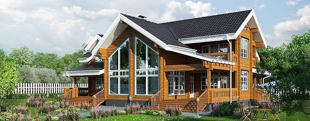 Một số mẫu nhà gỗ kiểu biệt thự vô cùng ấn tượng, đẹp mắt