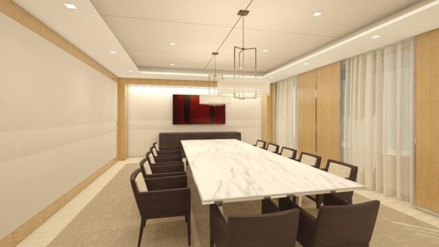 Phòng họp ấn tượng với bức tranh tường sáng tạo