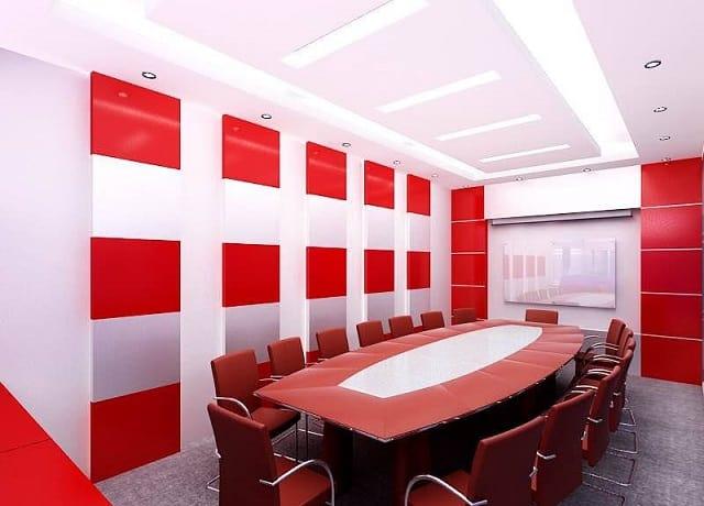 Mẫu thiết kế nội thất phòng họp theo phong cách năng động, trẻ trung