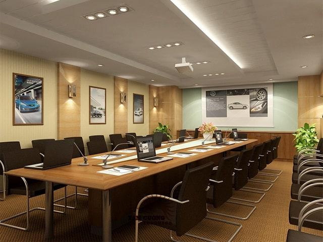 Mẫu phòng họp diện tích hẹp vẫn đảm bảo tính chuyên nghiệp