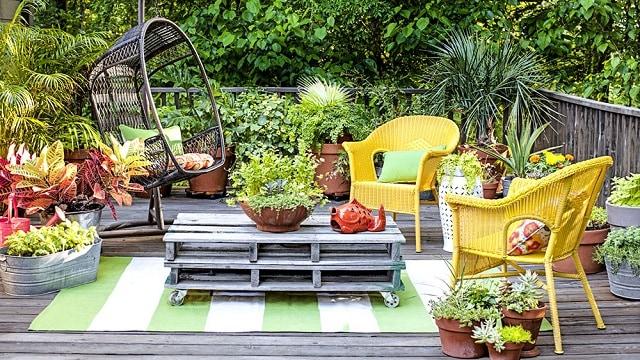 Sân vườn đa năng với bếp nấu ngoài trời