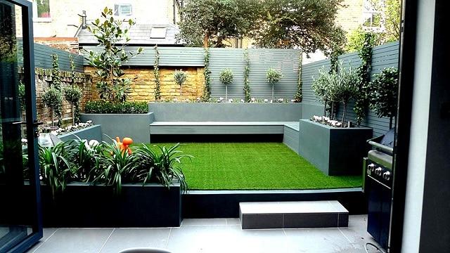 Mẫu thiết kế sân vườn 2 tầng bắt mắt