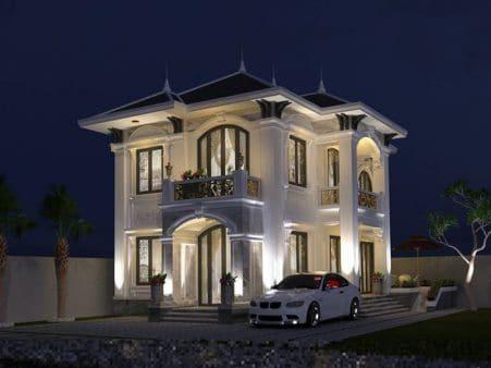 Mẫu villa biệt thự mang phong cách Hoàng gia