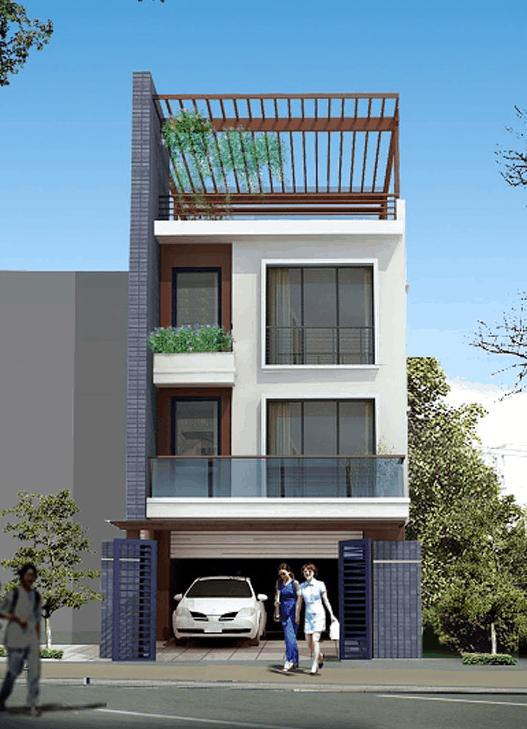Một số mẫu nhà phố kiểu ống 2 và 3 tầng được ưa chuộng hiện nay
