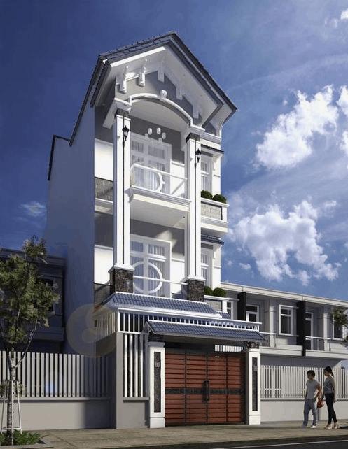 Nhà phố kiểu ống mái Thái ấn tượng