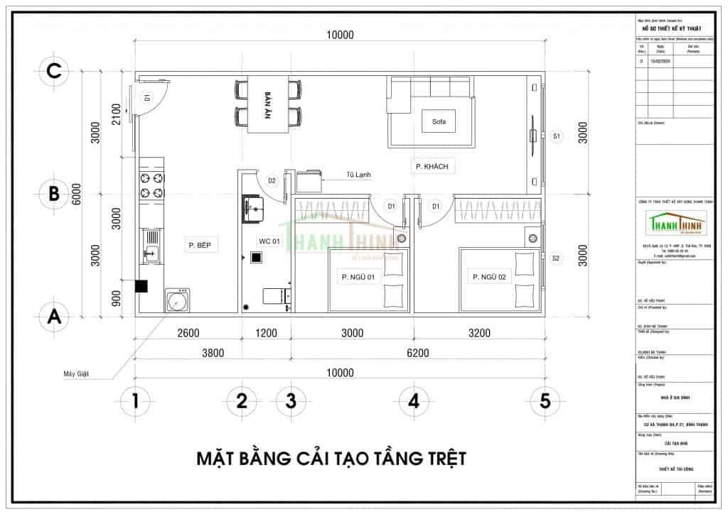 Cải Tạo Cư Xá Thanh Đa 60m2 Quận Bình Thạnh T.p HCM Trọn Gói 130 Triệu 1