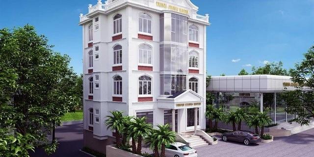 Mẫu khách sạn được thiết kế với những chi tiết cầu kỳ và sang trọng nhất