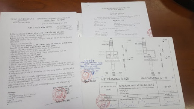 Hồ sơ hoàn thiện điều chỉnh giấy phép xây dựng