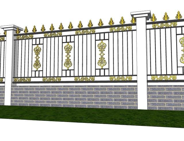 Cổng, hàng rào bao quanh các khu nhà đô thị