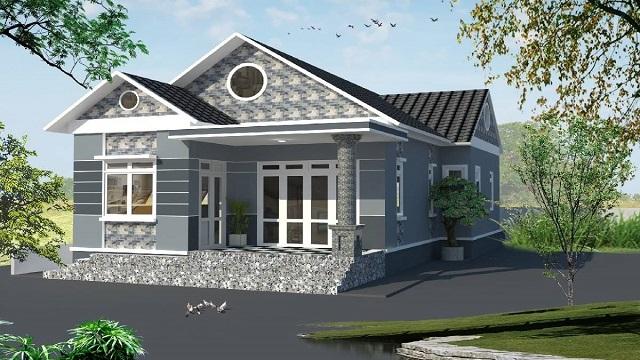 Nhà cấp 4 giá 300 triệu thường thiết kế mái thái để tạo điểm nhấn