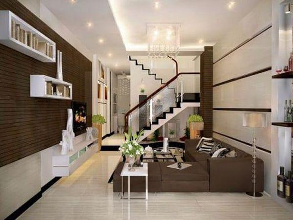 Mắt thẩm mỹ của người thiết kế rất quan trọng trong thiết kế phòng khách nhà ống 4m