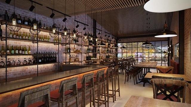 Phong cách thiết kế quán Bar đơn giản, sang trọng