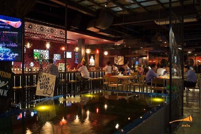 Mọi không gian trong quán Bar phải có sự kết hợp hài hòa với nhau để khách hàng không cảm thấy nhàm chán