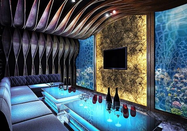 Ánh sáng đèn Led của căn phòng được thiết kế đơn giản, không cầu kỳ nhưng mang nét độc đáo riêng