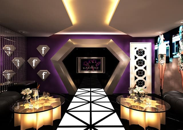 Phòng Karaoke có diện tích nhỏ những vấn được thiết kế rất bắt mắt và ấn tượng