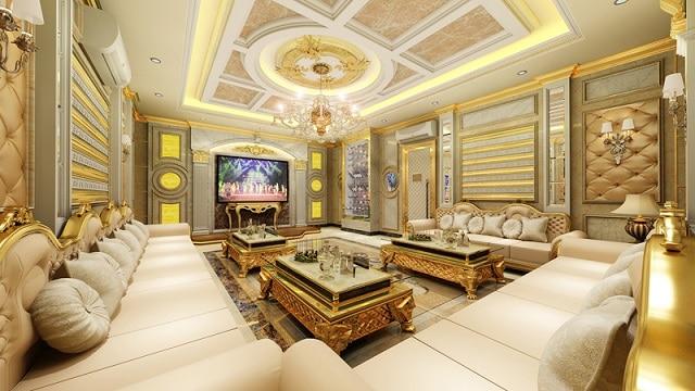 Ánh sáng cùng bộ sofa cùng màu sắc làm cho căn phòng trở nên đồng điệu hơn