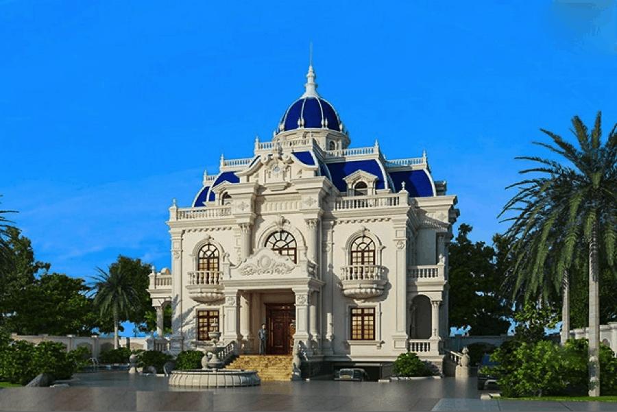 Mẫu thiết kế nhà bán cổ điển dường như là toà lâu đài sang trọng