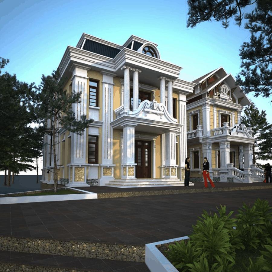 Mẫu nhà cổ được thiết kế theo phong cách Châu Âu