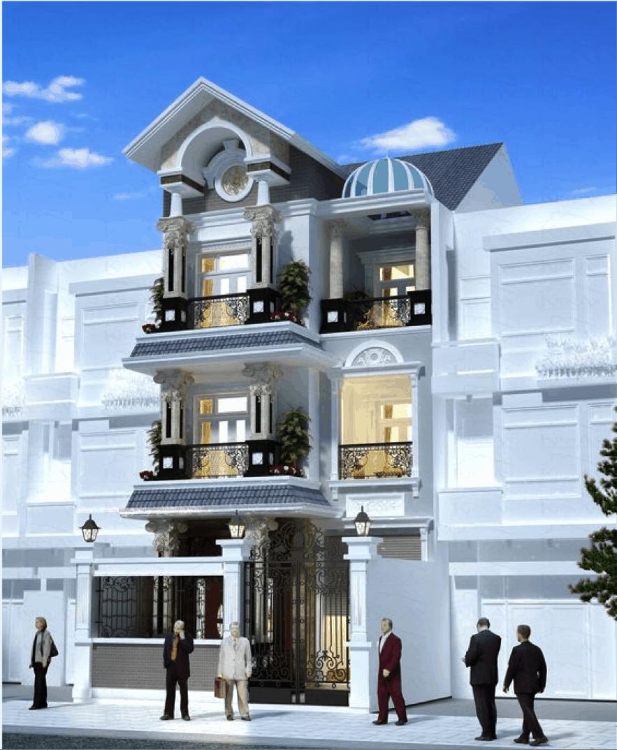 Mẫu thiết kế nhà cổ điển số 2 dành cho những gia đình có diện tích đất rộng