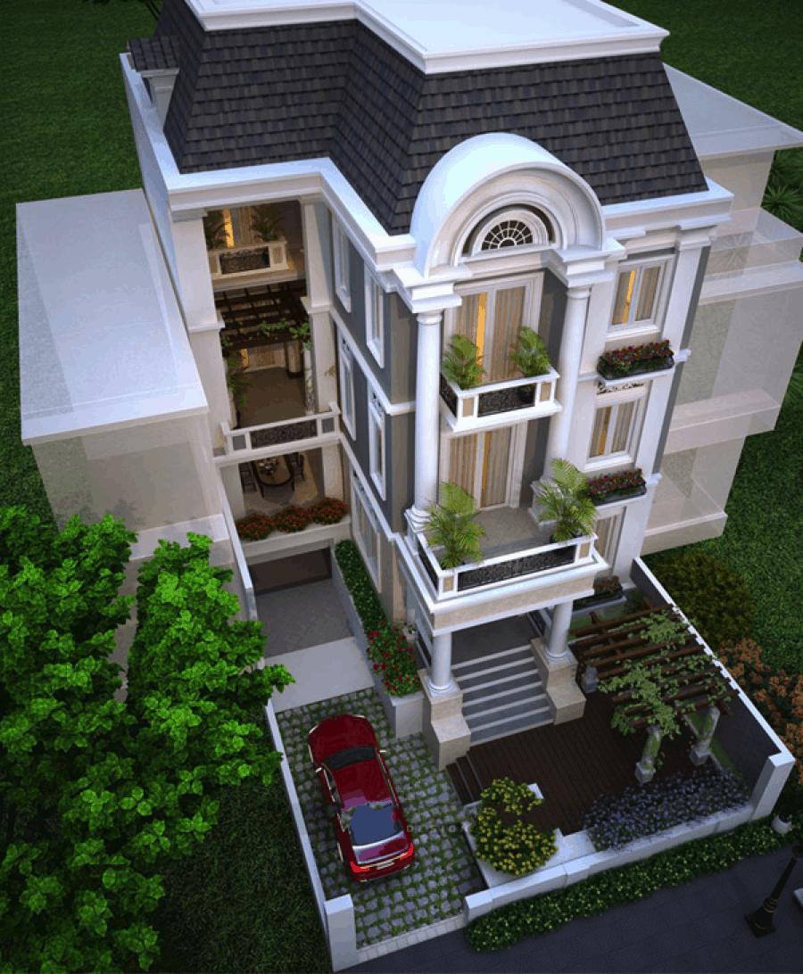 Mẫu thiết kế nhà cổ điển đẹp ấn tượng và được nhiều cặp vợ chồng trẻ lựa chọn