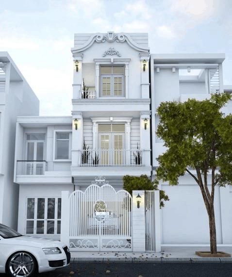 Ngôi nhà được thiết kế với toàn bộ hệ thống cửa kính cùng khuôn viên đồng điệu tạo cảm giác thoải mái cho người ở