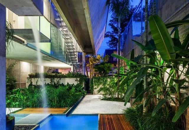 Ngôi nhà thiết kế với 1 tầng trệt theo phong cách sân vườn gần gũi, ấn tượng