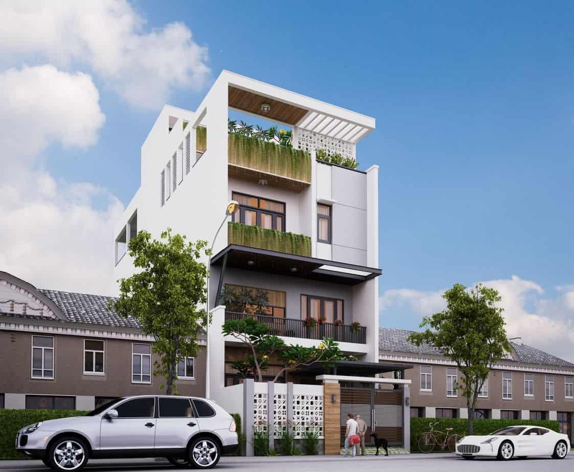 Ngôi nhà được thiết kế 3 tầng đơn giản, tinh tế nhưng vẫn mang đến vẻ đẹp sang trọng