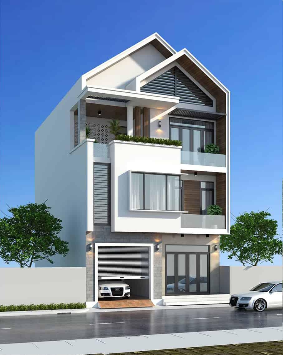 Chắc chắn mẫu thiết kế nhà này sẽ làm bạn cảm thấy thích thú vì sự độc đáo, ấn tượng của nó