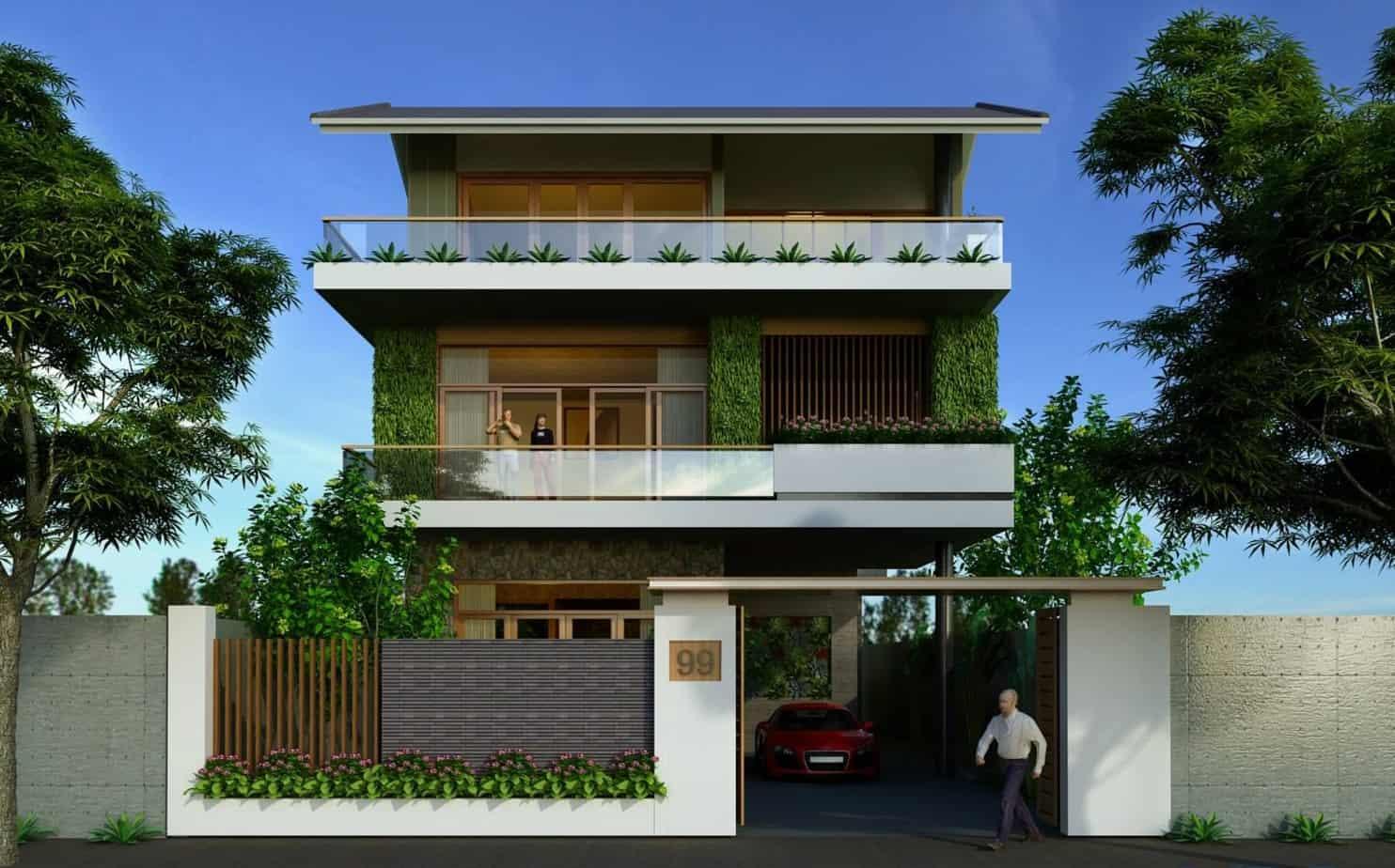 Ngôi nhà được thiết kế theo kiểu tầng trệt với những chi tiết tinh tế, độc đáo