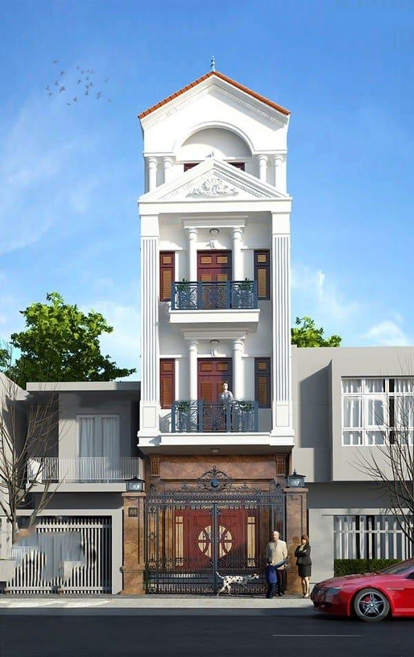 Thiết kế phong cách tân cổ điển của ngôi nhà đảm bảo mang đến giá trị thẩm mỹ cao