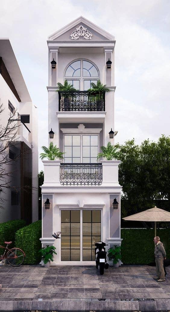 Căn nhà thiết kế theo phong cách tân cổ điển mang đến vẻ đẹp nguy nga, tráng lệ