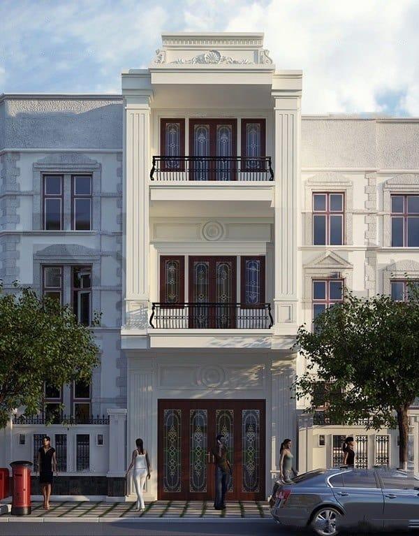 Ngôi nhà thiết kế phong cách tân cổ điển với kích thước rộng lớn như một dinh thự