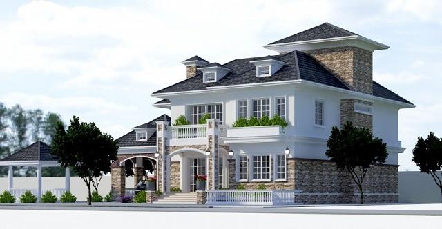 Nhà được thiết kế thêm nhiều mảng xanh tạo cảm giác tươi mới