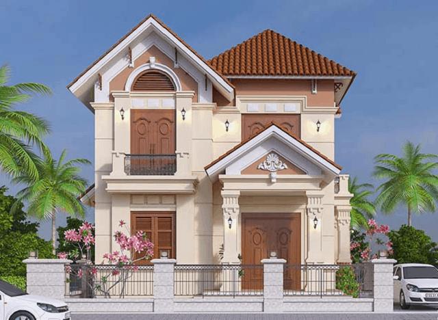 Ngôi nhà thiết kế với những hình khối lớn, đảm bảo nét đẹp mạnh mẽ, hoành tráng
