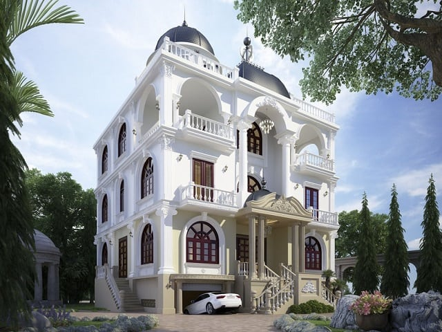 Mẫu nhà tân cổ điển được thiết kế theo phong cách sang trọng, đẳng cấp