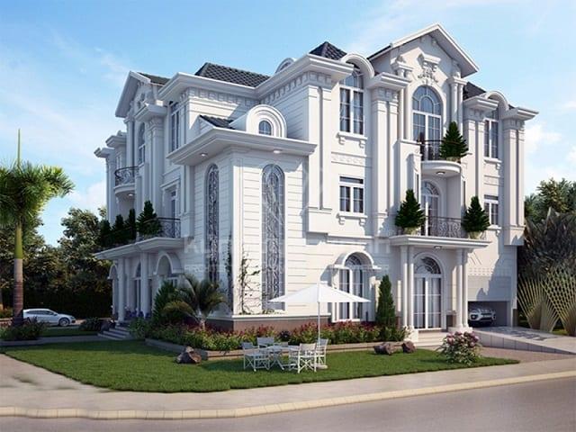 Nhà ở thiết kế theo phong cách tân cổ điển ưu tiên sử dụng gam màu trắng
