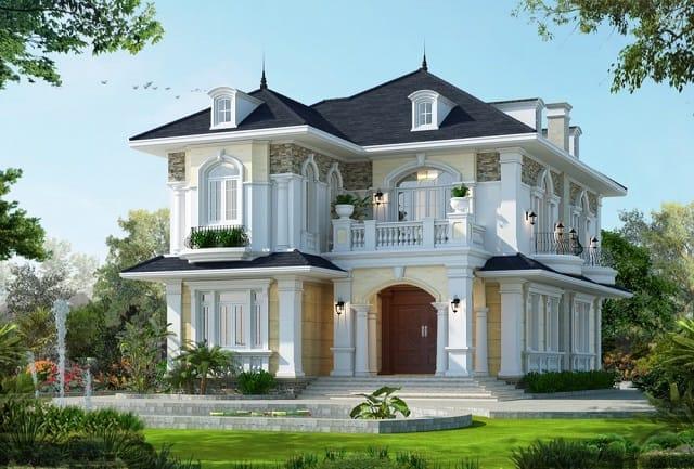 Mẫu thiết kế nhà tân cổ điển này đảm bảo sự đơn giản nhưng vẫn toát lên hết vẻ đẹp của nó