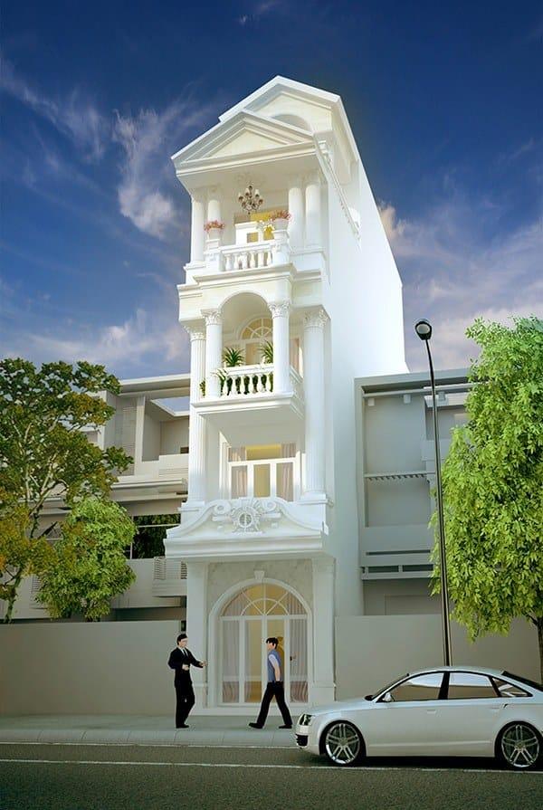 Ngôi nhà tạo được điểm nhấn đặc biệt bởi phần mái nhà cách điệu