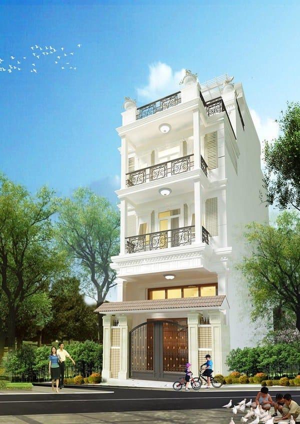 Ngôi nhà đảm bảo mang đến sự khang trang, thể hiện sự bề thế cho gia chủ