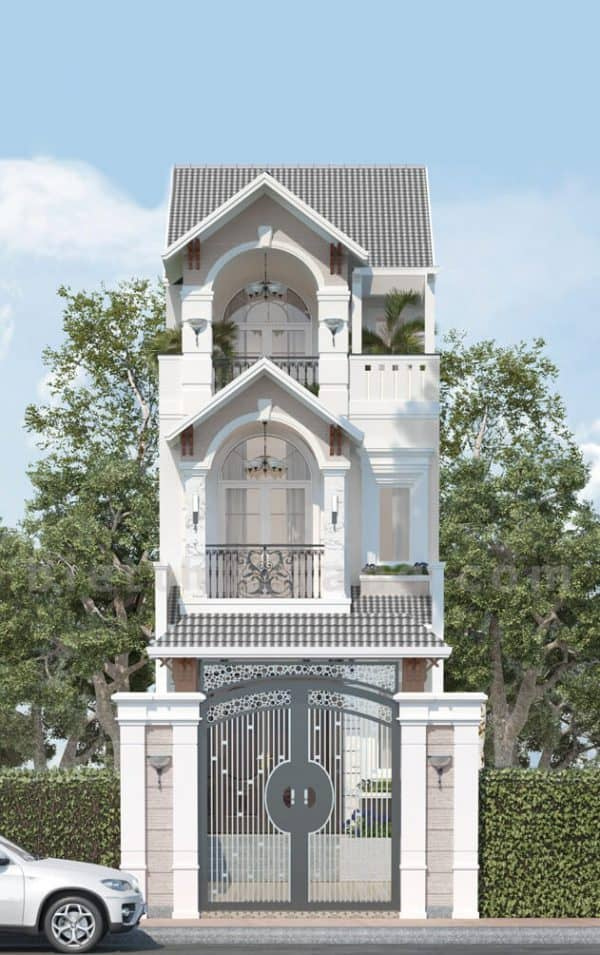 Ngôi nhà mang phong cách thiết kế tân cổ điển rộng lớn, đồ sộ và đẳng cấp