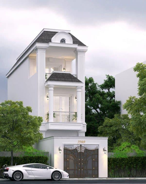 Mẫu nhà mang thiết kế tân cổ điển với nhiều chi tiết tỉ mỉ đạt giá trị thẩm mỹ cao