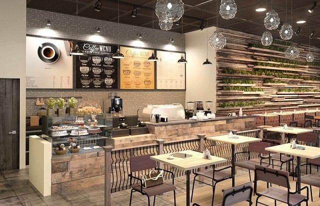 Phong cách thiết kế của quán café xinh xắn với sự kết hợp hài hòa giữa các chi tiết
