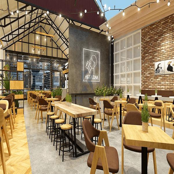 Quán café được thiết kế với công gian rộng và thoáng, mang vẻ đẹp tinh tế