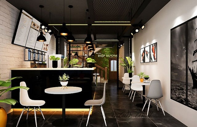 Mỗi góc bàn đều có một bóng đèn riêng để tạo điểm nhấn cho không gian và tăng lượng ánh sáng khi cần thiết