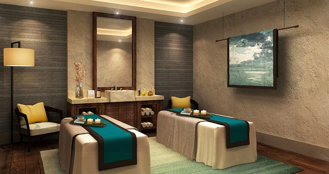 Không gian của Spa thiết kế trầm lắng, yên tĩnh để khách hàng tận hưởng giây phút nghỉ ngơi thư giãn trọn vẹn